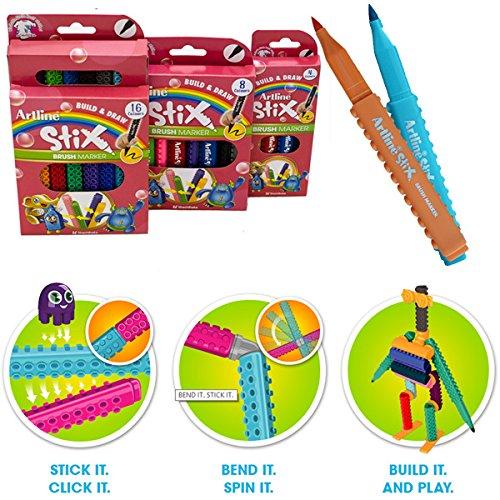 artline-build-draw-stix-brush-marker-pens-for-lego-fans-pack-of-8-clever-click-together-system