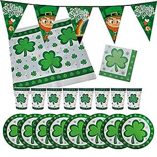 Krause & Sohn Party-Set St. Patrick's Day für 8 Personen 34 Teile Geschirr Mottoparty
