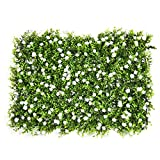künstliche Hecke mit Blumen gefälschte Hecke Pflanzer Faux Zaun Matte Privatsphäre Bildschirme Landschaftsbau Grün Panel Kulisse Wanddekoration von yunhigh