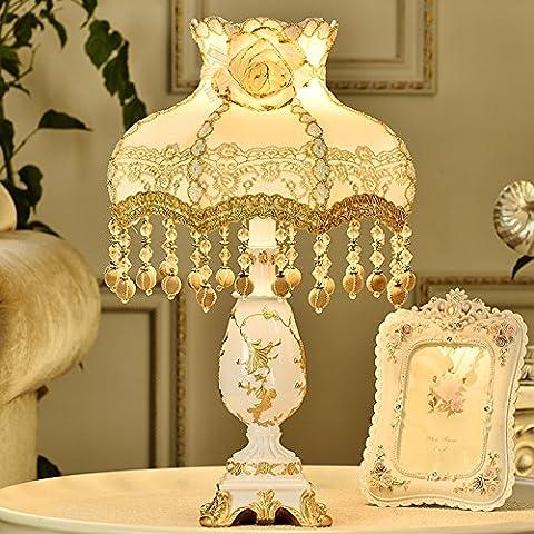 Continental lampada pizzo princess camera da letto letto idilliaco decor minimalista desktop di nozze , luce medio , lampada interruttore a pulsante