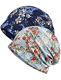 b85a83e5295d4b WELROG Chemo Hat Women Beanie Hat Lace Head Scarf Super Soft Slouchy Turban  Headwear Head Wraps