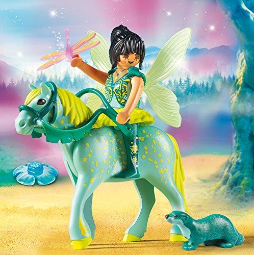 PLAYMOBIL-Fairies-set-en-3-parties-9135-9136-9137-Lumires-bloom-de-fe-bbs-Fleur-Fe-avec-licorne-carriage-Eau-Fe-avec-cheval-Aquarius