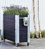 Woodinis Cubic Blumenkasten Hochbeet BIG 120x50x95 mobil 4 Rollen - Woodinis-Spielplatz®