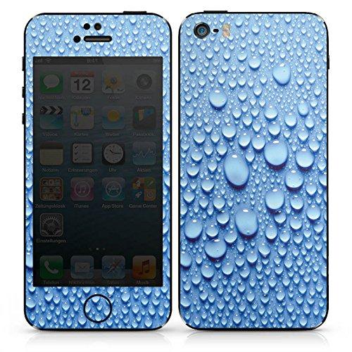 Apple iPhone SE Case Skin Sticker aus Vinyl-Folie Aufkleber Wasser Tropfen Muster DesignSkins® glänzend