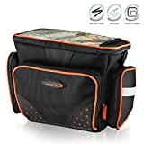 Ibera Clip-On Quick-Release Bicycle Handlebar DSLR Camera Bag with All Weather Rain Cover, Black, Large