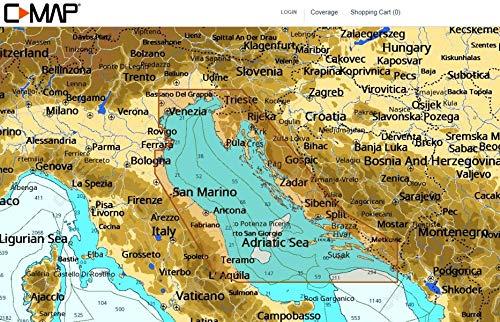 C-MAP - NT+ WIDE - Adriatic Sea - North - C-CARD - C-map
