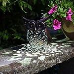 Smart Garden Metal Scroll Owl Solar L...