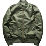 XuyleY Men's Bomber Jacket Waterproof Flight Jacket Coat Windbreaker
