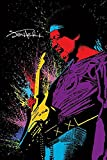 Close Up Jimi Hendrix Poster Paint 2 (61cm x 91,5cm) + 2 St. Schwarze Posterleisten mit Aufhängung