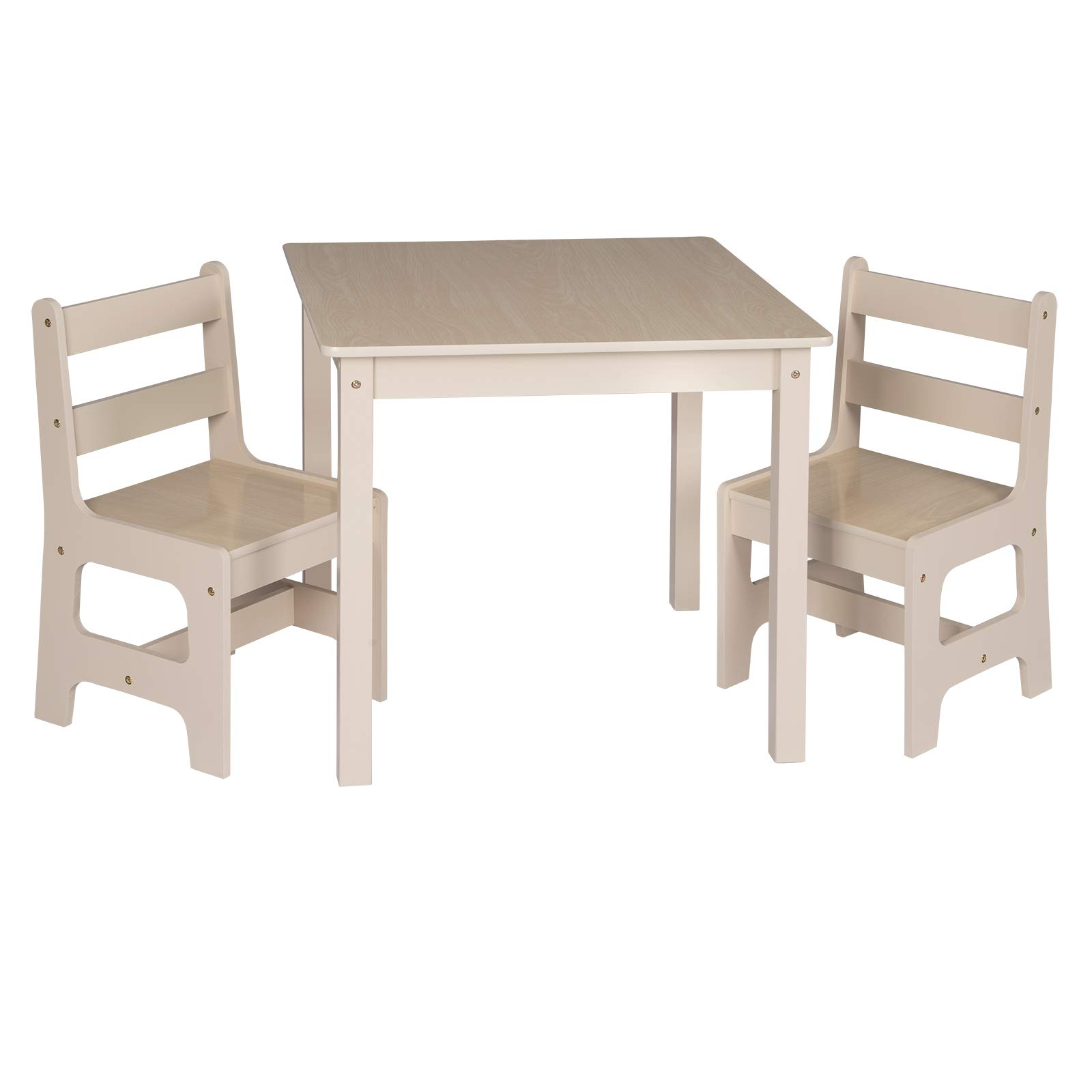 Tavoli E Sedie In Legno.Woltu Sg001 Tavolo E Sedie Per Bambini Soggiorno Tavolino Con 2 Sgabelli Set Mobili In Legno