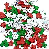 Tinksky Pacco di Natale pulsanti per cucire pulsante mestiere DIY per la decorazione partito di nozze di Natale