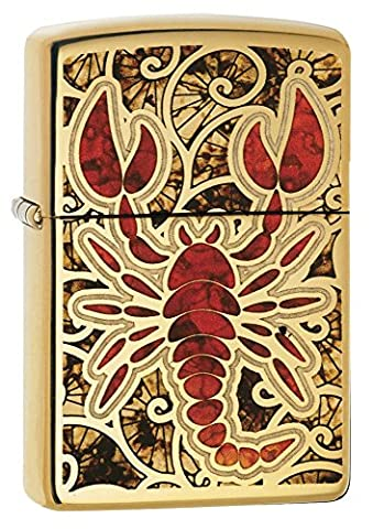 Zippo Scorpion Shell Regular Lighter - High Polish Brass