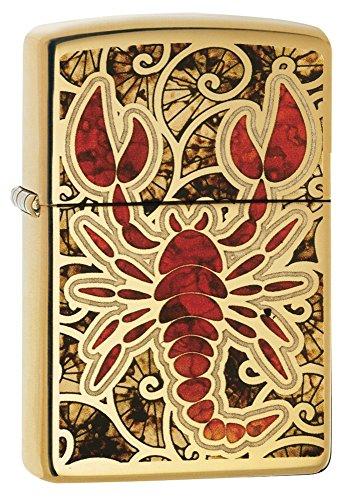 Zippo 29096 Accendino a Benzina, Ottone, Oro, 5,70 x 3,70 x 1,20 cm