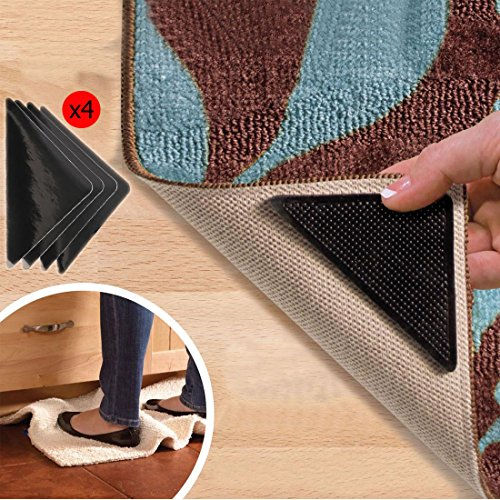 WSS–8pcs alfombra pinza alfombra de goma antideslizante Pad con alfombra cinta adhesiva de doble cara