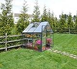 Palram Aluminium Gewächshaus Gartenhaus Hybrid 6x6 // 190x185x209 cm (LxBxH); Treibhaus & Tomatenhaus zur Aufzucht