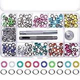 200 Sets 3/16 Zoll Ösen Kit Metall Ösen mit Installation Werkzeuge für Taschen Schuhe Kleidung Handwerk, 10 Farben