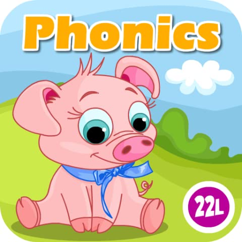 Phonics: Fun on Farm - Reading, Spelling and Tracing Educational Program • Kids Learning Games Teaching Letter Sounds, Sight Words, ABC Flash Cards Quiz & Alphabet for Preschool, Toddler, Kindergarten and 1st Grade Explorers by Abby