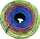 Häkel- & Strickstube Farbverlaufsgarn - Bobbelino Eighties Schwarz-Blau-Pink-Orange-Gelb 1 Faden schwarz 5 Farben, 4 Fäden Lauflänge: ca.1.050m 50% Baumwolle - 50% Polyacryl Nadelstärke: 3-4