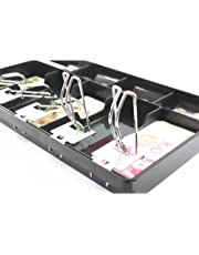 BEESCLOVER 5 Grid Cash Drawer Safe Box for POS Printer Store Lock Storage Currency