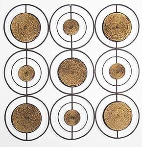 neue moderne wanddeko aus metall abstrakt grid seil quadratisch. Black Bedroom Furniture Sets. Home Design Ideas
