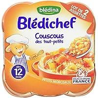 Blédina Blédichef Assiette Couscous des Tout-Petits dès 12 Mois 2x230g - lot de 4