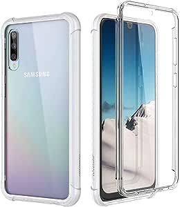 Suritch Kompatibel Mit Samsung Galaxy A50 Hülle Transparent 360 Grad Stoßfest Schutzhülle Durchsichtig Handyhülle Hybrid Rundumschutz