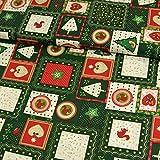 Baumwollstoff Weihnachten Patchwork Tannenbäume Herzen