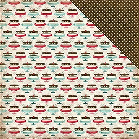 Echo Park Paper Home Sweet Home doble cara cartulina (30,4x 30,4cm casera pastel, acrílico, multicolor
