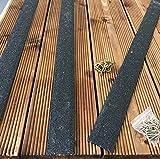 5Stück 1200mm rutschfeste Sonnendeck Streifen Terrassendielen Streifen 50mm breit schwarz braun beige grün grau