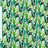 Baumwollstoff Kaktus Kakteen grün 1,6m Breite
