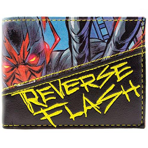 DC Comic Flash Inverser flash Villain Bleu Portefeuille