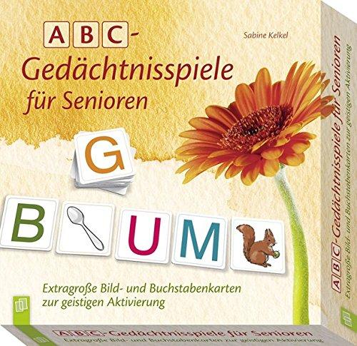 ABC - Gedächtnisspiele für Senioren: Extragroße Bild- und Buchstabenkarten zur geistigen Aktivierung