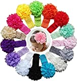 #6: Skudgear Pack of 3 Multi color Satin Baby Head Bands Designer Edition (Premium Quality) (Multicolored 3 Pack)