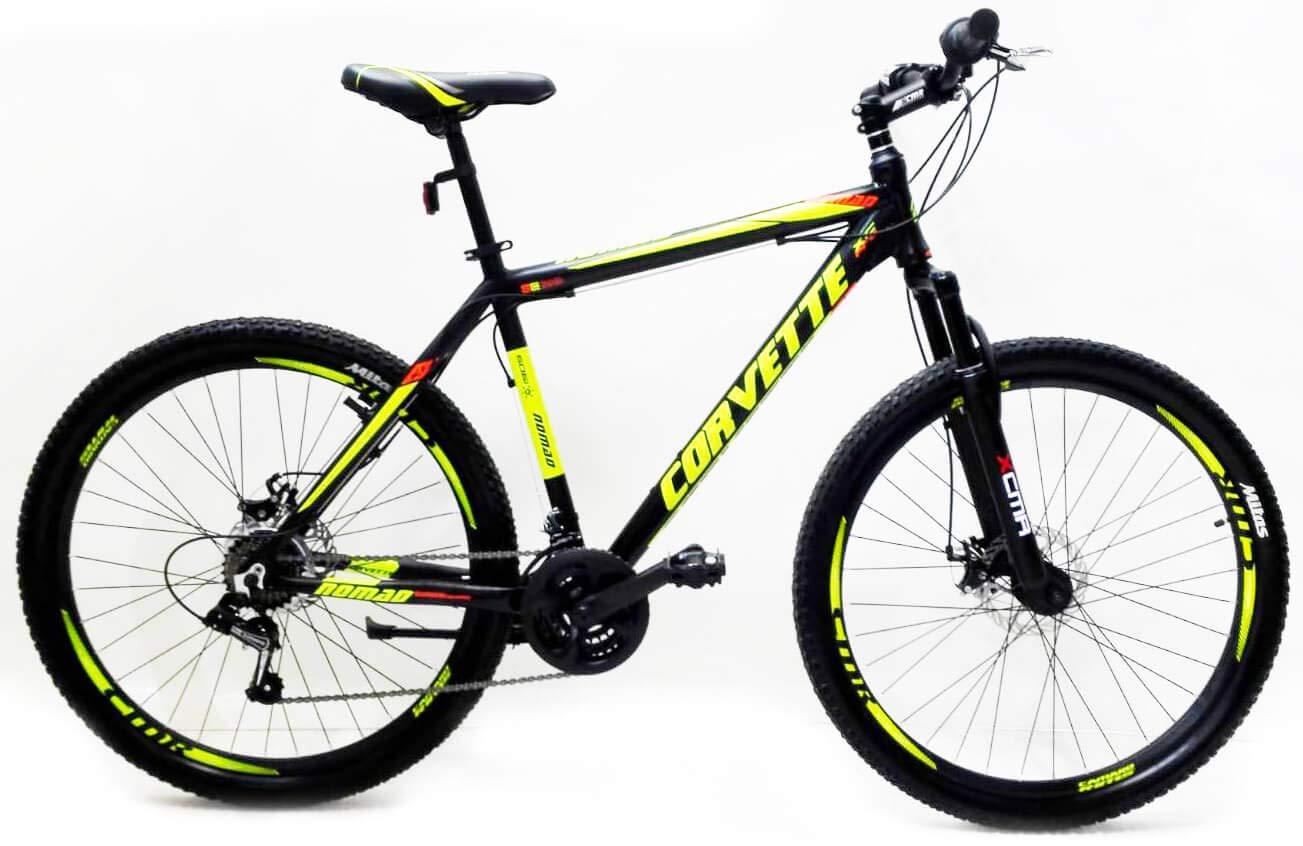 """Reset Bicicletta Mountain Bike MTB Ragazzo 29"""" 21V MTB Nomand Nero e Verde Llime"""