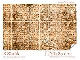 GRAZDesign 766067_20x25_60 Fliesenaufkleber Mosaik - Muster Braun | mit Fliesenbildern die Fliesen-Wände überkleben (Fliesenmaß: 20x25cm (BxH)//Bild: 90x60cm (BxH))