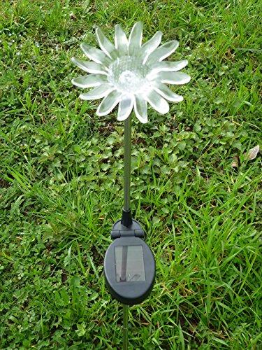 LED Solarleuchte Gartenleuchte Sonnenblume - Gartenstecker Solar Blume Solarleuchte Solarlampe...