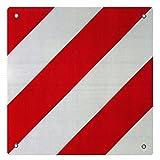 Warntafel Spanien Aluminium mit Ösen 500x500mm reflektierend rot-weiß für Heckträger/Fahrradträger