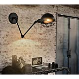 lampe de chevet américaine rétro rocker télescopique mur de pliage lampe chambre robot industriel à double restaurant en plein air lampe murale [Efficacité énergétique: A +]