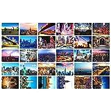 Schöne Reise-Landschaft 30PCS Künstlerische Retro Postkarten-New York