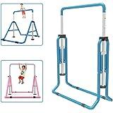 Barre de gymnastique pour enfants avec hauteur réglable et barre horizontale pliable pour enfants Bleu