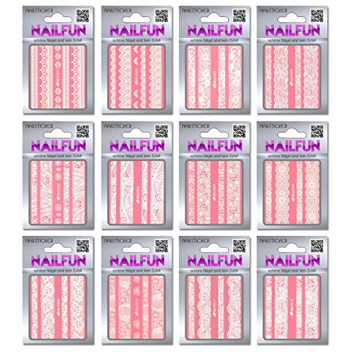 , 12 paquetes nail adhesivo HBJY 1 bordillo tira Autoadhesivo
