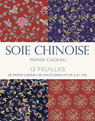 Papier cadeau soie chinoise : 12 feuilles de papier cadeau de haute qualité (45 x 61 cm)