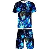 Sword Art Online Alicization Maglietta E Pantaloncini Sets Sportiva 3D Stampa Unisex Manica Corte Maglietta Shorts Tute Due P