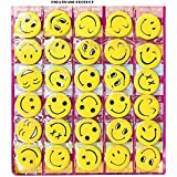 OSRA Smiley Face Expressions Button Pins Badge - Set Of 30