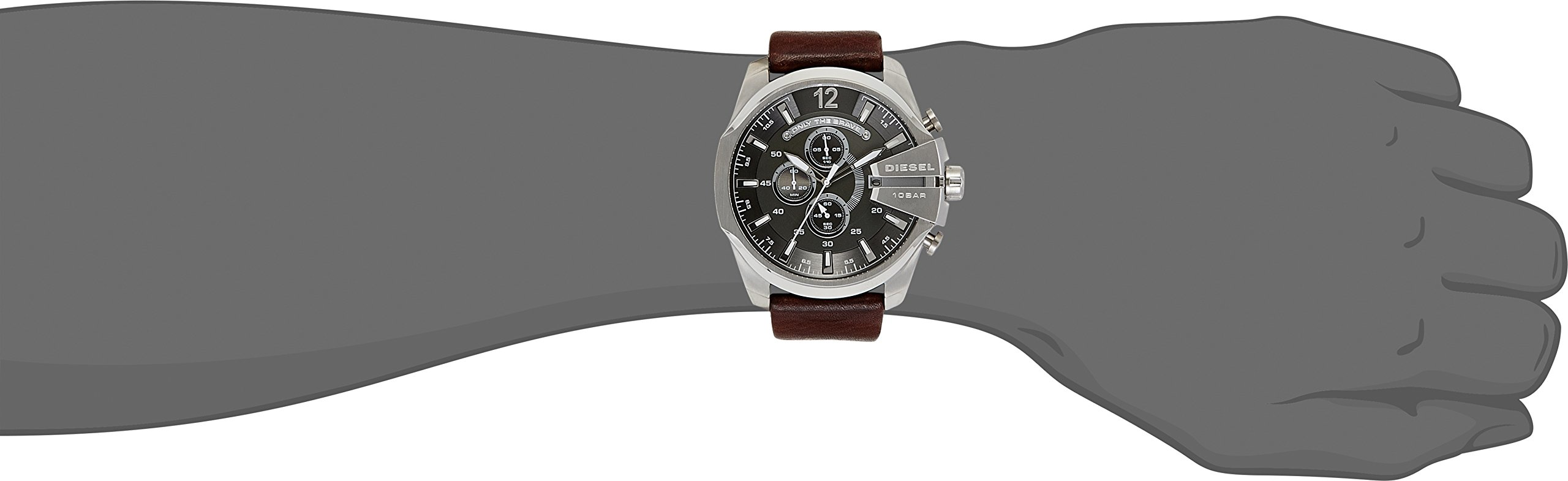 Diesel Mega Chief Analog Grey Dial Men's Watch – DZ4290