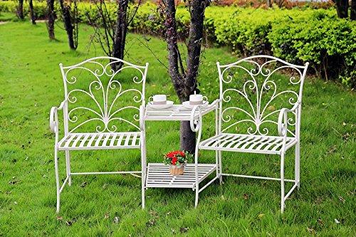 MAXIOCCASIONI Set de Jardin en Fer Blanc