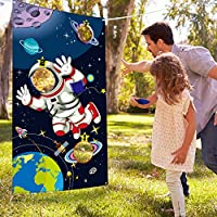 ‏‪Blulu Space Birthday Party Supplies,Space Game Birthday Party Astronaut Toy, Astronaut Toss Games Sets for Kids and Adults in Solar System Party Activities‬‏