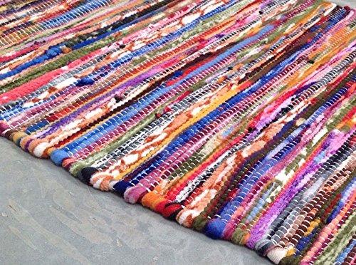 Second Nature Weich Warm Kuschelig Fleece Multi Farbigen Streifen, Flickenteppich 120cm x 180cm -