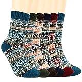 Winter Socks Women,6 Pairs Womens Thermal Socks,Warm Knit Ladies Socks for Winter Outdoor