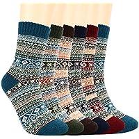 Winter Socks Women,6 Pairs Womens Thermal Socks,Warm Knit Ladies Socks for Winter Outdoor Sports by Bearbro